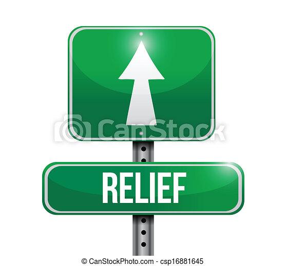 relief road sign illustration design - csp16881645