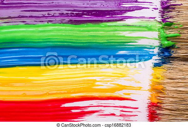 Rainbow paint background
