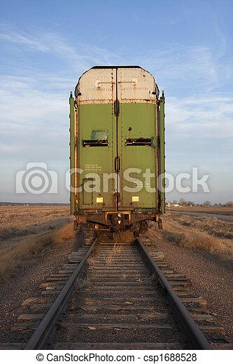 old stock rail car for livestock transportation  - csp1688528