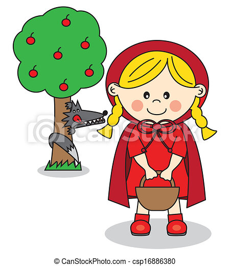 vector of little red riding hood and the big bad wolf little red riding hood clipart story little red riding hood clipart free