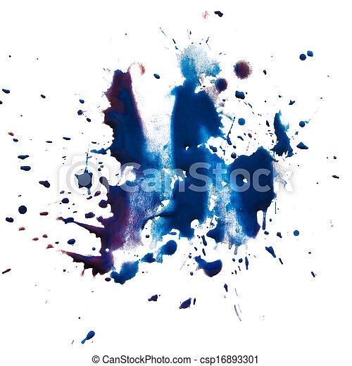 banco de fotografia de azul borr o mancha branca isolado aquarela pintura csp16893301. Black Bedroom Furniture Sets. Home Design Ideas
