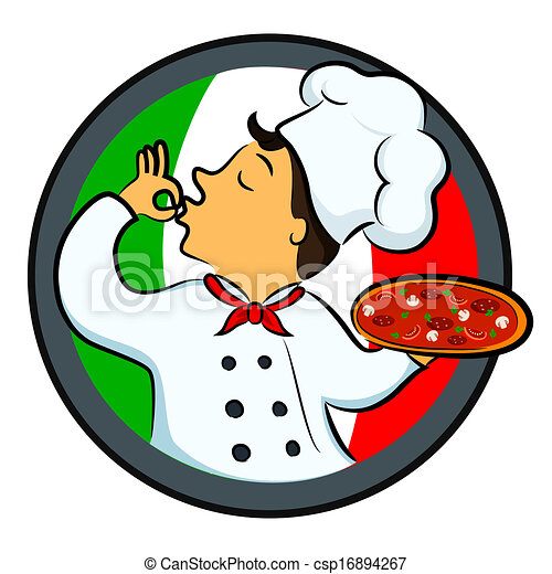 Pizza Chef Vector Pizza Chef Clip Art Vector
