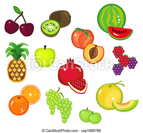 stock illustration of fruits part 2 cliparts of various