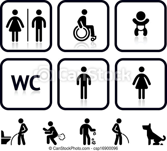 Toilet icons - csp16900096