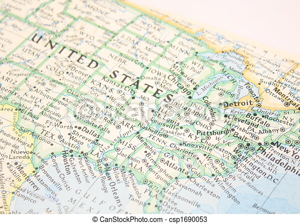 Map of US - csp1690053