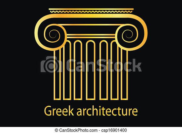 Gold Column Vector Vector Golden Greek Column