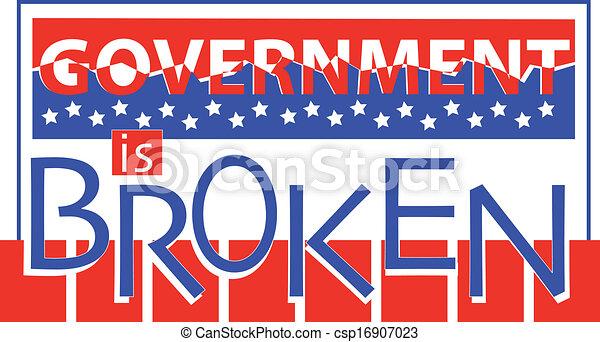 Government is Broken - csp16907023