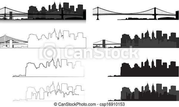 New York city silhouette - csp16910153