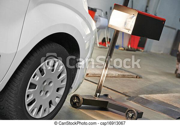 automobile car headlight checkup - csp16913067