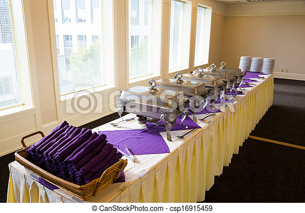 Stock Images of Wedding Banquet Feast Setup