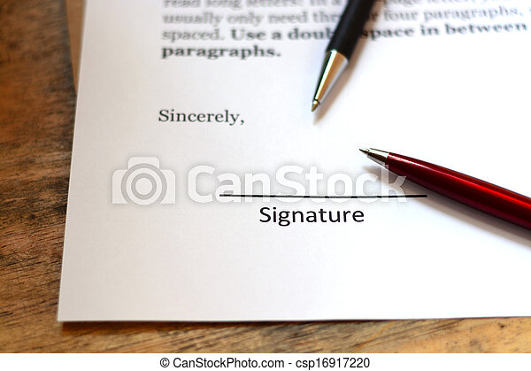 signature with pen