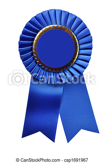 Blue Ribbon Award (with clipping path) - csp1691967