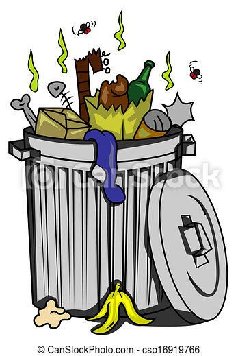clip art vektor von abfall  buechse csp16919766 suchen trash can clipart black trash can clip art for bathroom