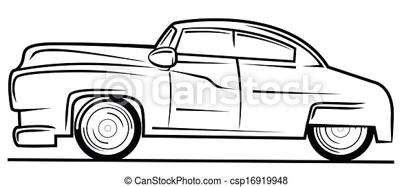 Easy Old Car Drawings Vector Old Car