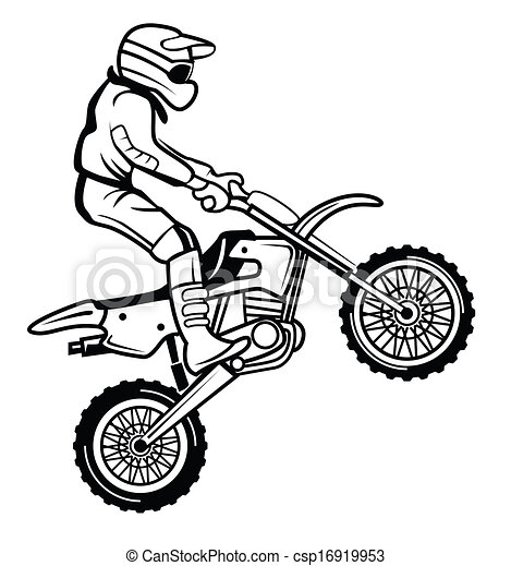 Clipart Vector Of Moto Cross Csp16919953