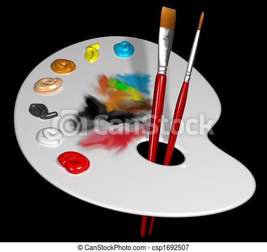 Artist palette - csp1692507