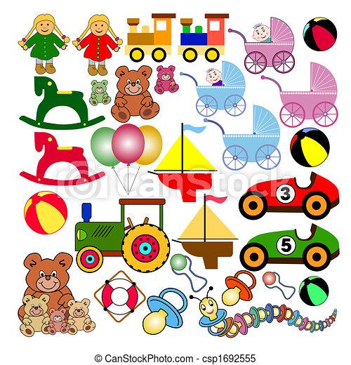 Sammlung, Spielzeuge - csp1692555