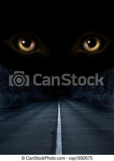 Horror in night - csp1692675
