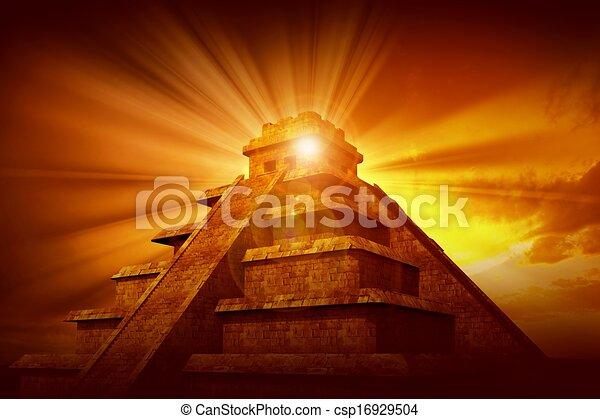 Stock Illustration Of Mayan Mystery Pyramid Mayan