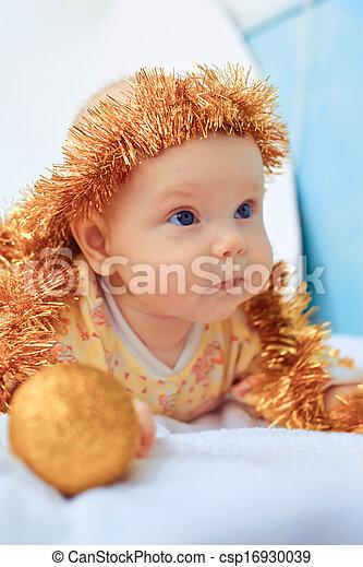Portrait of beautiful newborn baby