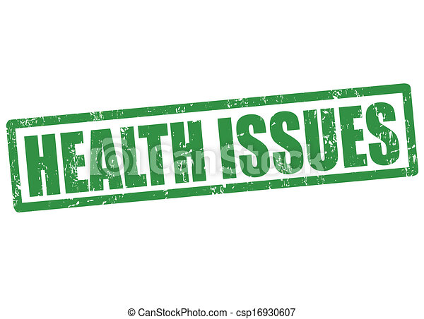 Vector Clipart Of Health Issues Stamp Health Issues