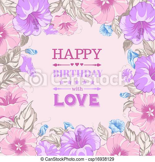 Happy birthday card. - csp16938129