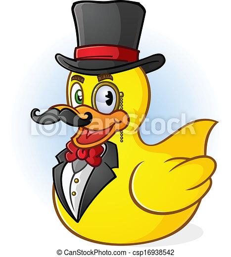 Rubber Duck Illustration Rubber Duck Gentleman Cartoon