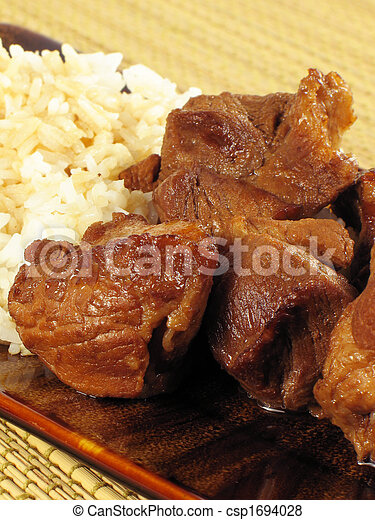 Pork Adobo with Rice - csp1694028