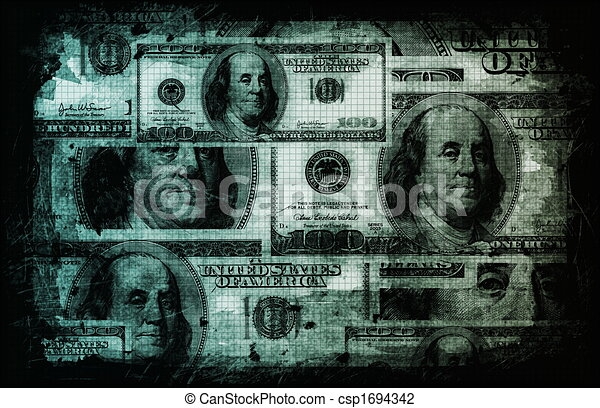 American US Dollars Currency Abstract - csp1694342