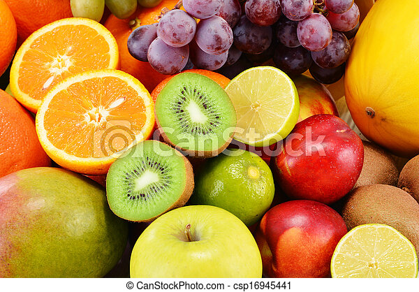 Composition with variety of fruits - csp16945441