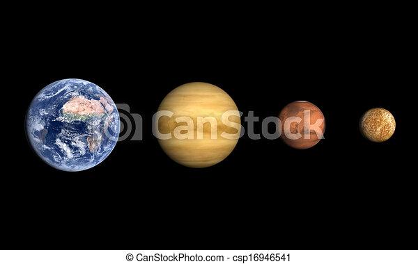 planety, ziemia, Wenusjański, Mars, księżyc - csp1694