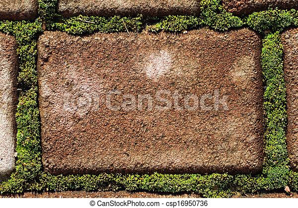 Cobblestone andmoss