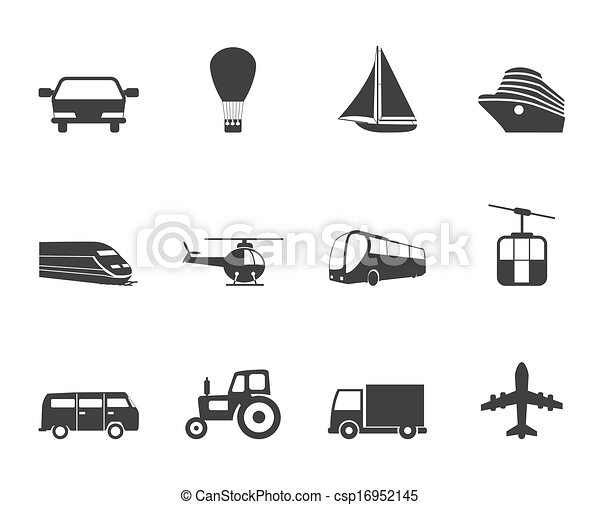 Silhouette Transportation icons - csp16952145