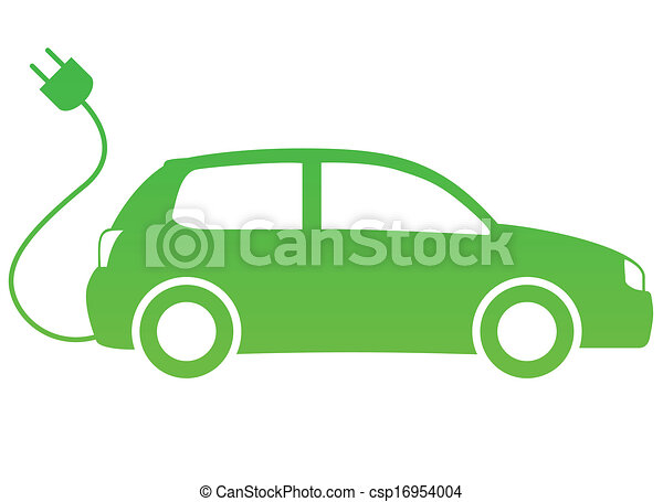Vector Clipart Of Electric Car Search Clip Art