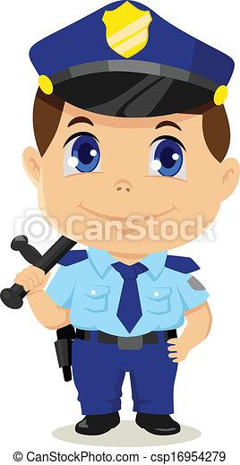 Dessin anim policier royalty free vector image - Dessin policier ...