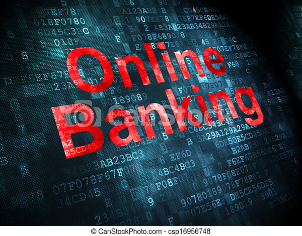 Business concept: Online Banking on digital background - csp16956748