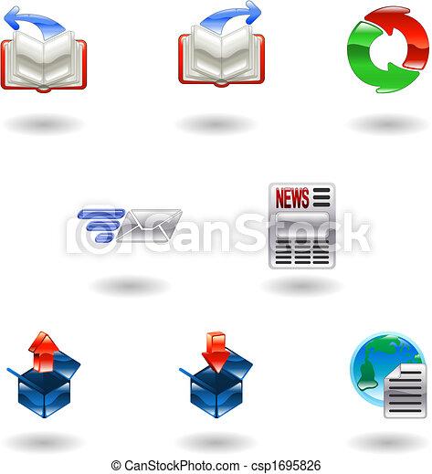 Shiny internet browser icon set - csp1695826