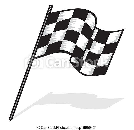 vecteur drapeau course
