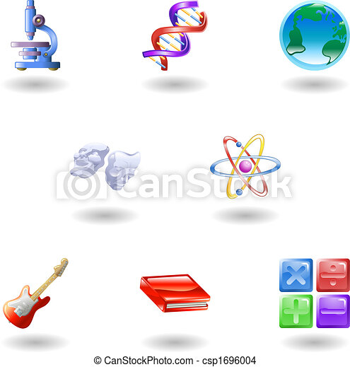 Glossy category education web icons - csp1696004