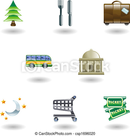 Travel and Tourism Icons - csp1696020
