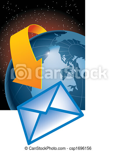 email encircles the earth - csp1696156