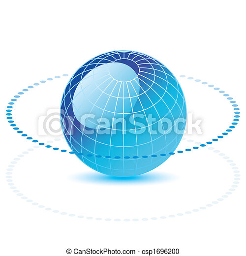 Blue vector globe - csp1696200