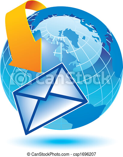 email encircling the earth - csp1696207