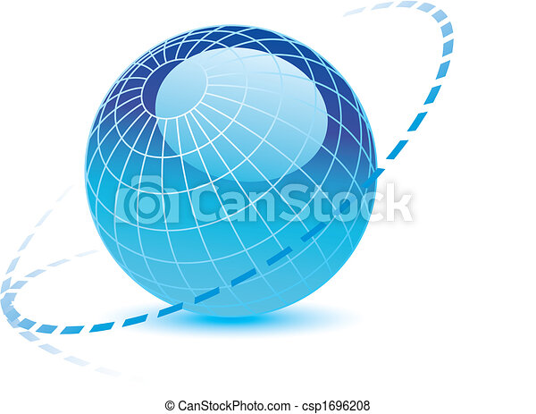 a globe with dotted lines - csp1696208