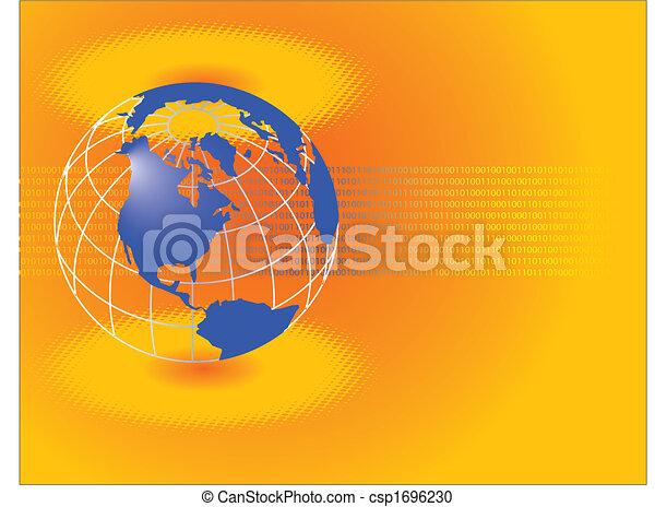 a corporate global theme. - csp1696230