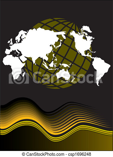 Vector globe and map design - csp1696248