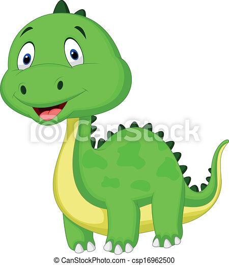Cute Dinosaur Logo Cute Green Dinosaur Cartoon
