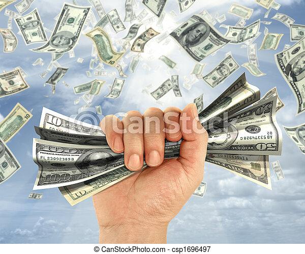 geld, halten - csp1696497