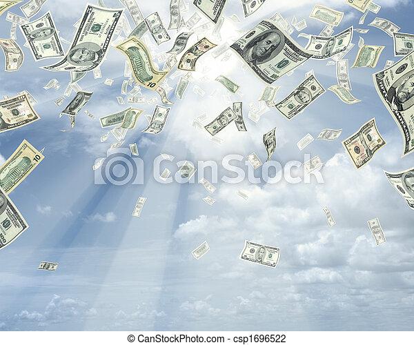 dollari, pioggia - csp1696522