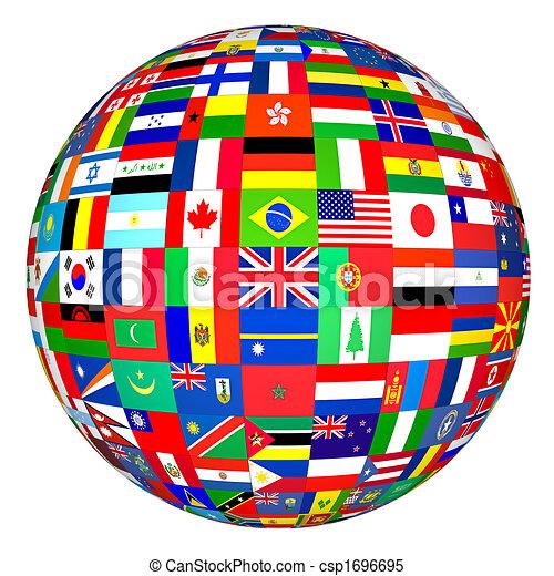 Welt, Flaggen - csp1696695